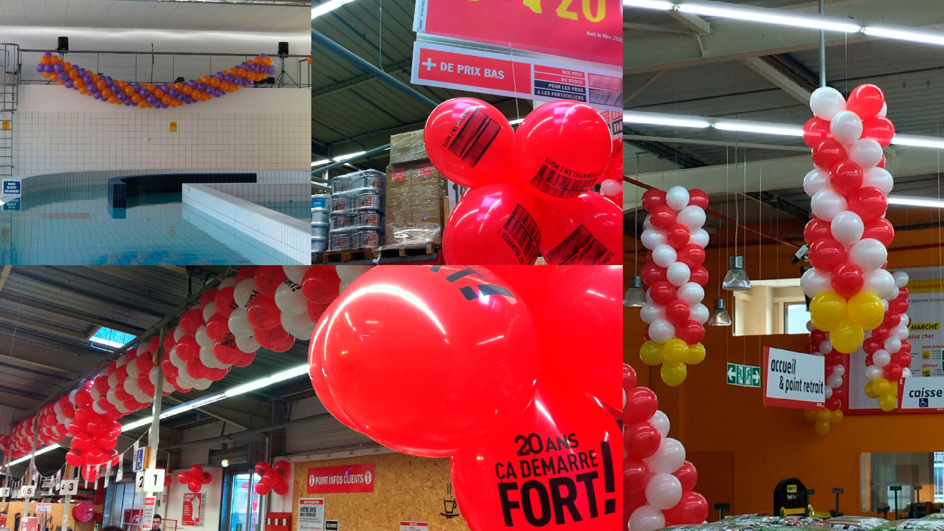 Décoration ballons magasin