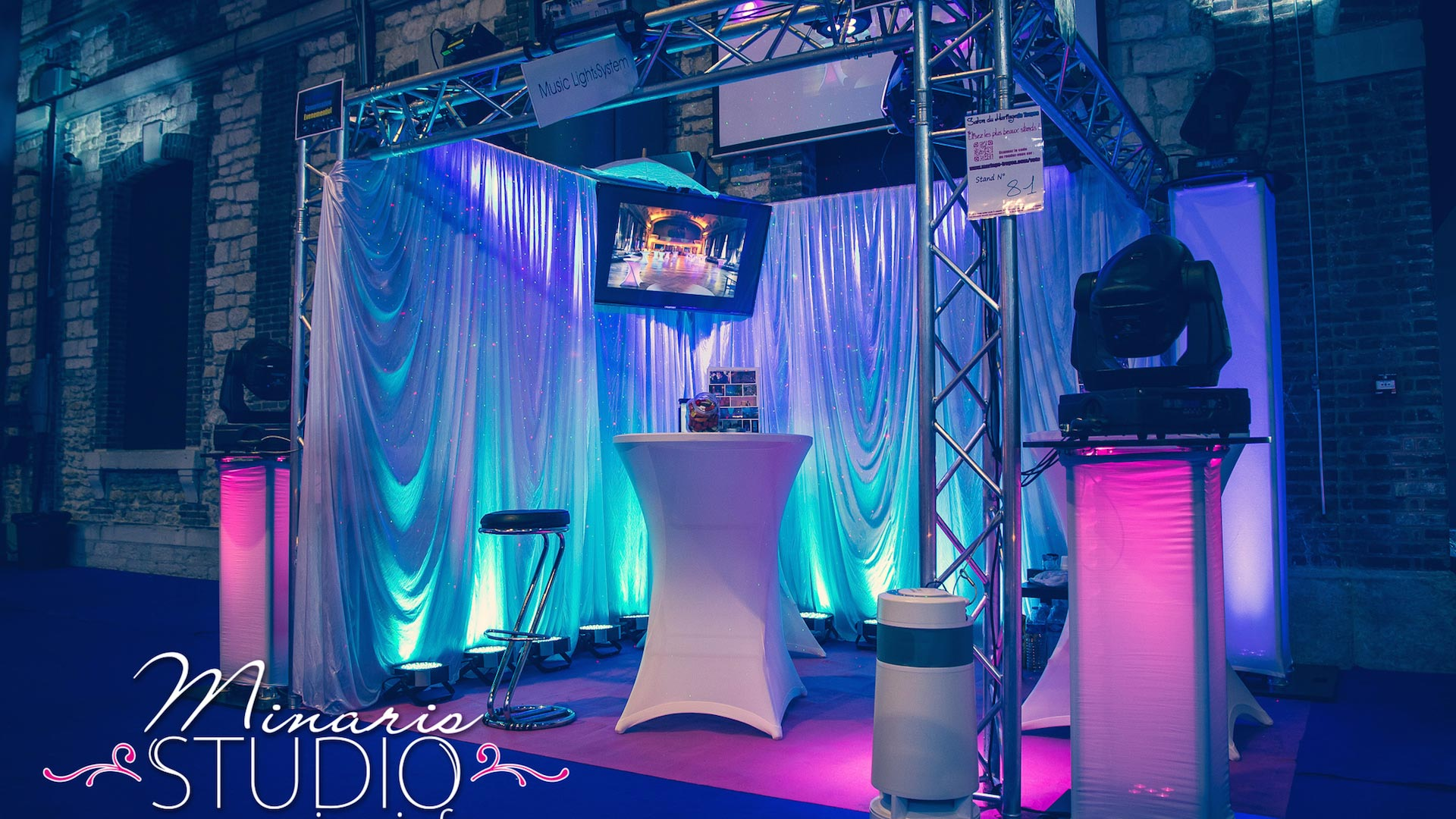 Le stand Music Lights System au Salon de Mariage Troyes