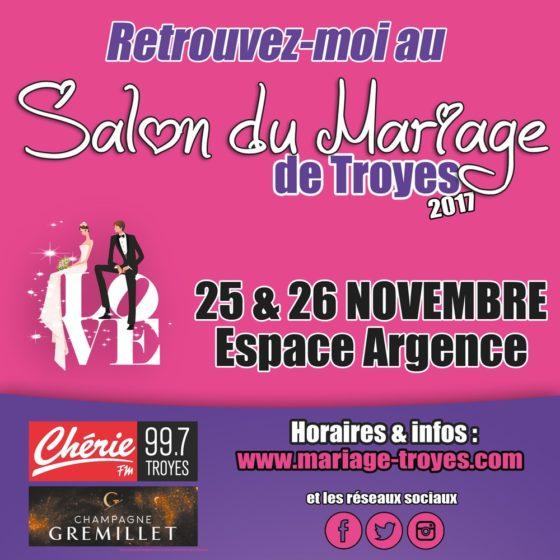 Sacha MLS au Salon du Mariage Troyes 2017
