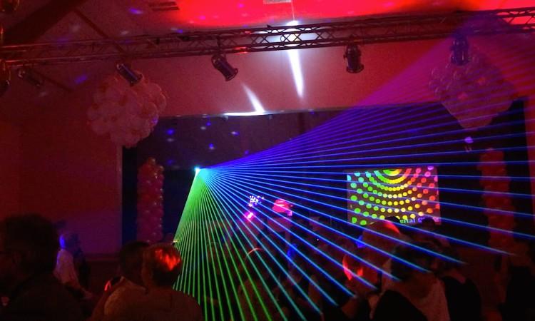 Laser dancefloor